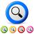 zoom · rózsaszín · vektor · gomb · ikon · terv - stock fotó © nickylarson974