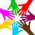 papír · emberek · kör · kéz · a · kézben · csoportkép · izolált - stock fotó © nickylarson974