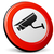 cctv · signo · rojo · vector · icono · botón - foto stock © nickylarson974