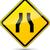 vector narrowed road diamond sign stock photo © nickylarson974