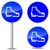 verplicht · teken · veiligheid · schoenen · Blauw · fabriek - stockfoto © nickylarson974