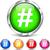 hashtag set icons stock photo © nickylarson974