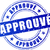 approved blue stamp stock photo © nickylarson974
