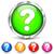 ponto · de · interrogação · ícones · ilustração · branco · fundo · vermelho - foto stock © nickylarson974