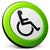 inválido · cadeira · de · rodas · assinar · universal · símbolo · deficientes - foto stock © nickylarson974