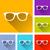 conjunto · óculos · de · sol · óculos · visão · correção · ilustração - foto stock © nickylarson974
