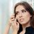 vrouw · cosmetische · gekleurd · lenzen · optische · store - stockfoto © NicoletaIonescu