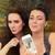 jonge · vrouwen · grappig · samen · twee · meisjes - stockfoto © NicoletaIonescu