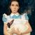 vicces · lány · csodaország · fehér · nyúl · portré - stock fotó © NicoletaIonescu