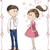 love at first sight vector cartoon stock photo © nicoletaionescu