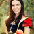 saf · gülümseme · portre · sarışın · kız - stok fotoğraf © nicoletaionescu
