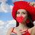 közelkép · boldog · mosolygó · nő · szalmakalap · portré · derűs - stock fotó © nicoletaionescu