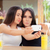 funny girls taking a selfie together stock photo © nicoletaionescu