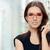 jonge · vrouw · bril · optische · store · mooi · meisje - stockfoto © NicoletaIonescu