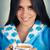 jonge · vrouw · badjas · groot · beker · koffie - stockfoto © NicoletaIonescu