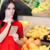 ciekawy · kobieta · supermarket · zakupy · listy · młoda · dziewczyna - zdjęcia stock © nicoletaionescu