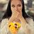 sorprendido · ensalada · de · fruta · postre · mujer · hermosa - foto stock © NicoletaIonescu