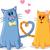 rajz · macska · szeretet · szív · művészet · retro - stock fotó © nicoletaionescu