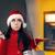 смешные · Рождества · женщину · монеты · печально - Сток-фото © nicoletaionescu