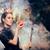 rainha · vermelho · traje · escuro · trabalhar · terno - foto stock © nicoletaionescu