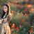 menina · feliz · papoula · campo · crianças · infância - foto stock © nicoletaionescu