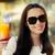 káprázatos · fiatal · nő · hódeszka · visel · napszemüveg · ül - stock fotó © nicoletaionescu