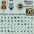 hangszerek · ikonok · különböző · gitár · háló · rajz - stock fotó © nicoletaionescu