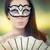 женщину · лицом · маске · удивленный · красивой · лице - Сток-фото © nicoletaionescu