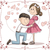 pregnant announcement couple vector cartoon stock photo © nicoletaionescu