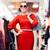 mulher · vestido · vermelho · cara · feminino - foto stock © nicoletaionescu