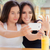 happy girls taking a selfie together stock photo © nicoletaionescu