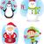christmas characters set vector cartoon stock photo © nicoletaionescu