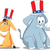 votar · republicano · elefante · democrata · burro · ilustração - foto stock © nicoletaionescu