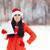 Natale · ragazza · mani · donna · isolato - foto d'archivio © nicoletaionescu