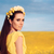 estate · donna · rose · ghirlanda · floreale · campo - foto d'archivio © NicoletaIonescu