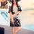 nyár · nő · napszemüveg · medence · portré · gyönyörű · lány - stock fotó © NicoletaIonescu