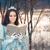 hermosa · nieve · reina · lectura · libro · retrato - foto stock © nicoletaionescu