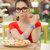 sorprendido · mujer · manos · hermosa · niña · dieta - foto stock © NicoletaIonescu