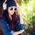 kız · dinlemek · pop · müzik · hareket · etki - stok fotoğraf © nicoletaionescu