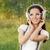 girl with headphones listening to music stock photo © nicoletaionescu