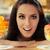 ensalada · de · fruta · helado · postres · mujer · hermosa - foto stock © NicoletaIonescu