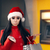 karácsony · nő · pénztárca · bank · bankautomata · vicces - stock fotó © nicoletaionescu