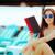 Солнцезащитные · очки · книга · открытой · книгой · Летние · каникулы · женщину - Сток-фото © nicoletaionescu