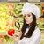 funny lady chef inspecting vegetables with magnifying glass stock photo © nicoletaionescu