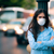 woman with respiratory mask out in polluted city stock photo © nicoletaionescu