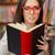 tanár · lány · olvas · könyv · könyvtár · női - stock fotó © nicoletaionescu
