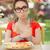 hambriento · mujer · manos · hermosa · niña · dieta - foto stock © NicoletaIonescu