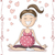 blissful pregnant woman doing yoga vector cartoon stock photo © nicoletaionescu