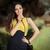 elegante · mulher · amarelo · carro · quadro · sensual - foto stock © nicoletaionescu