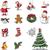 Рождества · ретро · иконки · Элементы · вектора - Сток-фото © nicoletaionescu